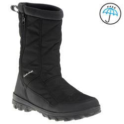 Arpenaz 500 Warm waterproof children's hiking boots - Black