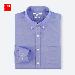 Men's Slim worsted stretch oxford shirt (long sleeves) 400 655