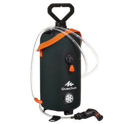 Outdoor sports light handy portable shower QUECHUA Portable shower with pressurized water.