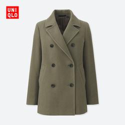 Women's wool blend double-breasted coat 401699