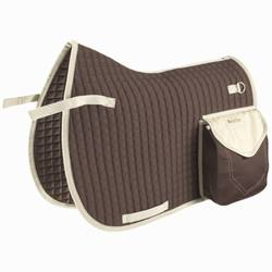 Sentier Hacking Horse Riding Saddle Cloth for Horse - Brown