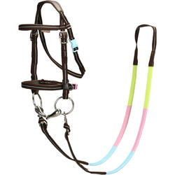 Starter Horse Riding Bridle and Reins Set Pony Size