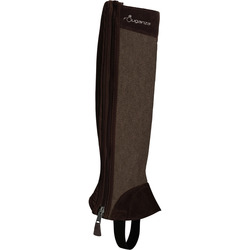 Basic 500 Adult Gusseted Horse Riding Half Chaps - Brown