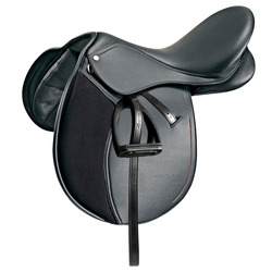"""Equestrian sporty lightweight and durable saddle FOUGANZA Pony 16 """"5"""