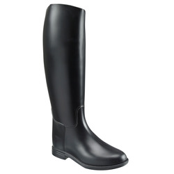 Equestrian sports long boots waterproof FOUGANZA Schooling