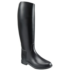 Equestrian waterproof teenager high boots FOUGANZA Schooling