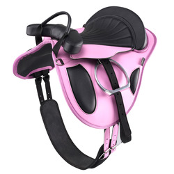 Beginner Horse Riding Fully-Fitted Synthetic Pony Saddle