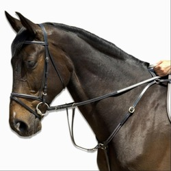 SCHOOLING horse riding breastplate - black, horse size