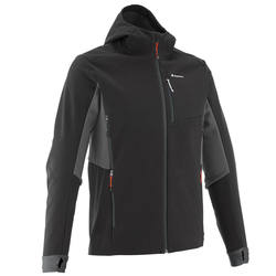 Men's WindWarm 500 softshell black trekking jacket