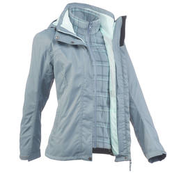 Arpenaz300 3-in-1 Rain Women's Hiking Jacket