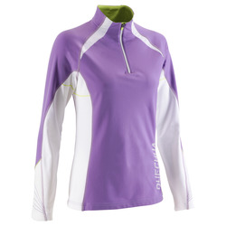 Outdoor sports warm women's long-sleeved T-shirt QUECHUA WARM T-SHIRT LADY