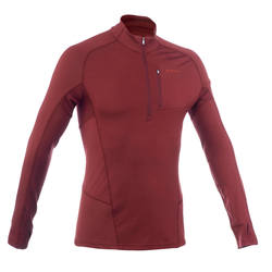 Men's brown, long sleeve Forclaz 900 wool trekking t-shirt