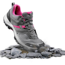 100 Mountain Hiking Women's Mountain Hiking Shoes - Grey/Pink