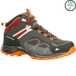 Forclaz 100 Men's Mid brown waterproof mountain hiking boots