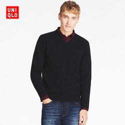Men's lamb wool V-neck sweater (long sleeves) 400 635