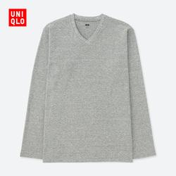 【Special sizes】Men's soft V-neck T-shirt (long sleeves) 400 326
