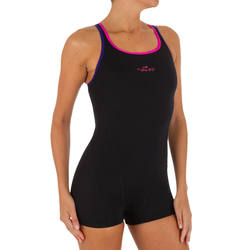 Kamiye Women's One-Piece Legsuit Shorty Swimsuit