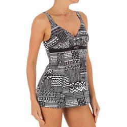 Kaipearl Women's Body-Sculpting One-Piece Skirt Swimsuit