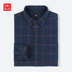 Men's flannel plaid shirt (long sleeves) 401 845
