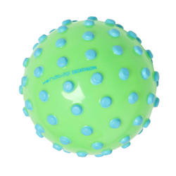 Neon Green Ball with Foam Studs. Approximately 15 cm in diameter