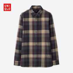Women's flannel plaid shirt (long sleeves) 402 674