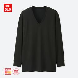 【Special sizes】Men HEATTECH EXTRA WARM V-neck T-shirt (9 Sleeve) 400 226