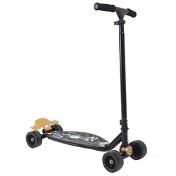 Simple roller skating control 4-wheel scooter OXELO Stunstreet Scooter with Brake
