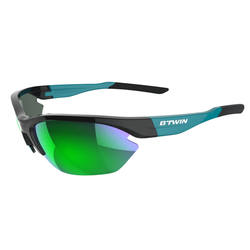 Cycling 500 Green Adult Cycling Sunglasses Category 3 - Black &