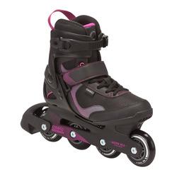 Roller Skating Comfort Roller Coat Strong Women Inline Skates OXELO Fit 3 Women's Fitness Inline Skates
