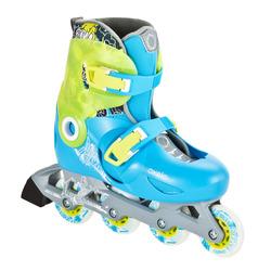 Roller skating size adjustable 6-10 year olds Junior Roller Overshoot OXELO Play 5 Kids' Inline Skates