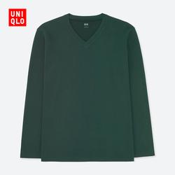 Men's soft V-neck T-shirt (long sleeves) 400 326