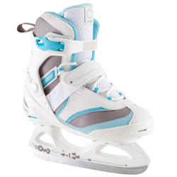 FIT 3 women's ice skates - white / sky blue