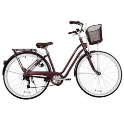 Biking 6-speed city bike B'TWIN Elops520