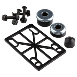 Skateboarding truck assembly fastenings kit