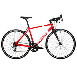 Bike 2 * 8 Speed ​​Half Carbon Fork Double Control Alteration Aluminum Alloy Frame Road Bike B'TWIN Triban 500