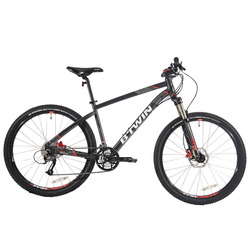 Cycling aluminum alloy frame can be adjusted to lock the shock absorber fork wheel diameter SHIMANO27 level Hayes hydraulic disc brake 27.5 inch sport mountain bike B'TWIN BTWIN ROCKRIDER 540