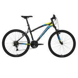 "Rockrider 340 26"" Mountain Bike - Black/Yellow"