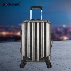 Rockland aluminum frame trolley traveling password Korean female travel caster boarding box 24 inch influx of students