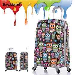 Rockland suitcase female students Korean version of the small fresh travel trolley suitcase password caster boarding male tide