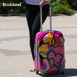 Rockland Rockland female trolley suitcase caster password luggage suitcase Korean version of a small fresh students