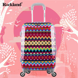 Rockland travel luggage trolley suitcase female Korean male password caster boarding student small fresh influx