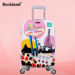 Rockland small suitcase female students Korean password caster boarding luggage trolley men travel small fresh
