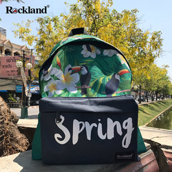Rockland male and female students bag leisure backpack computer bag large capacity bag personalized flower package