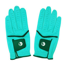 500 Women's Pair Golf Gloves - Blue
