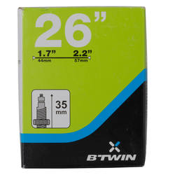 "Cycling 26X1.7-2.2 French air nozzle 26 inch bicycle inner tube B'TWIN TUBE 26 ""PRESTA"