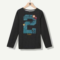 T-shirt garçon jersey anthracite