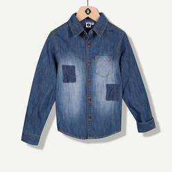 Chemise en jeans effet délavé