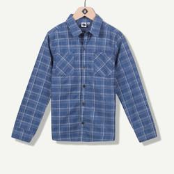 Chemise en jeans à carreaux