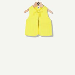 Gilet jaune en tricot