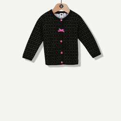 Cardigan tricot épais noir